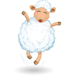 Sheep on white background vector