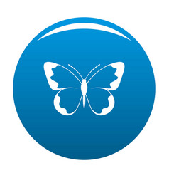 small butterfly icon blue vector image
