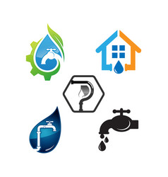template of logo plumbing works vector image