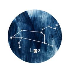 the leo zodiac constellation vector image