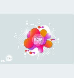 the modern liquid form design elements vector image