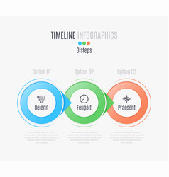 three steps infographic timeline presentation vector image