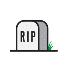tombstone rip vector image