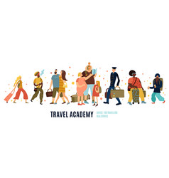 travel academy vector image