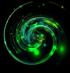twisted green shiny and colorful background vector image