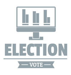 Vote stats logo simple gray style vector