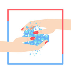 Washing woman hand concept vector