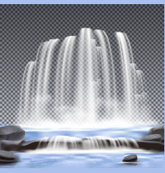 waterfalls realistic transparent background vector image