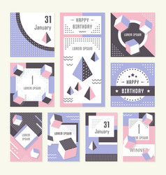 website banner and landing page happy birthday vector image