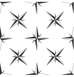 Wind rose icon seamless pattern navigation design vector