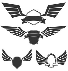 Wings set2 vector