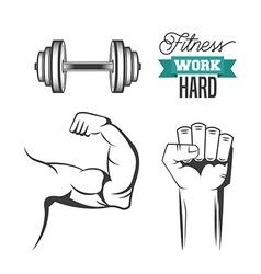 Work hard design vector