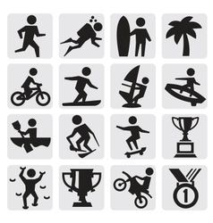 extreme sports icon vector image
