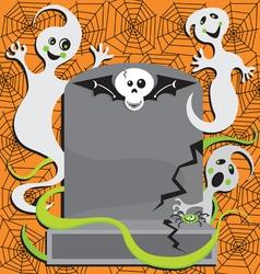 halloween ghost invitation vector image vector image