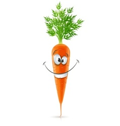 Smiling carrot with top vector