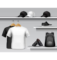 Sportswear Store Shelf vector image vector image