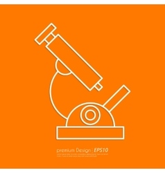 Stock Linear icon microscope vector image