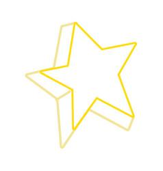 color line cute bright star art design vector image vector image