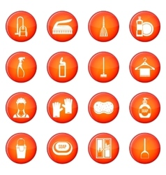 House cleaning icons set vector image