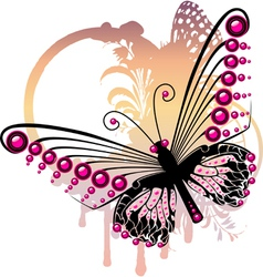 Purple butterfly vector image vector image