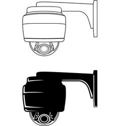 security camera 1 vector image