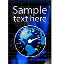 speedometer in form globe illustration vector image vector image
