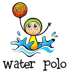 A stickman playing water polo vector image vector image