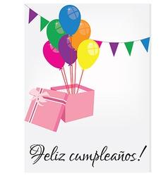 Birthday postcard with text happy birthday vector image vector image