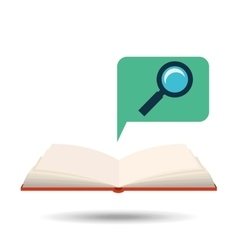 Book open search concept school graphic vector