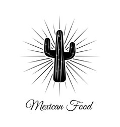 cactus cartoon and black and white sketch style vector image