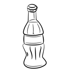 cartoon image of bottle icon coke drink symbol vector image vector image
