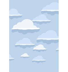 Cloud pattern on blue background vector image