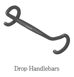 Drop handlebar icon isometric 3d style vector