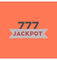 flat icon on stylish background jackpot Lucky vector image vector image