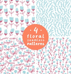 Floral patterns set 3 vector