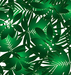 Green tropical pattern vector image vector image