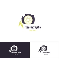 Photography logo one vector
