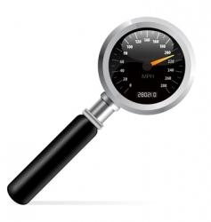 speedometer in magnifier vector image
