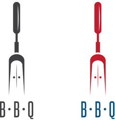 Bbq tools gate simple icon design template vector