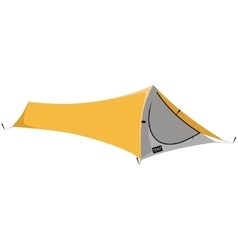 Green camping tent vector image