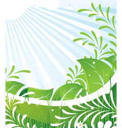 Green rural meadow vector image