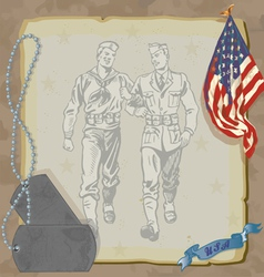 hero military party vector image vector image