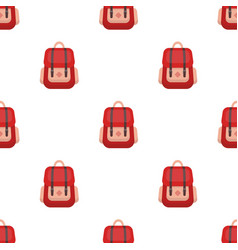 hipster backpack icon in cartoon style isolated on vector image vector image