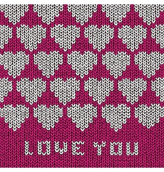 Love Sweater vector image vector image