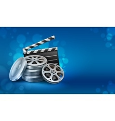 Movie film disks with vector image vector image