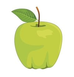 One full green apples vector image vector image