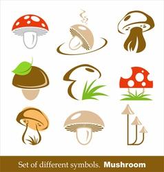 symbols mushroom vector image