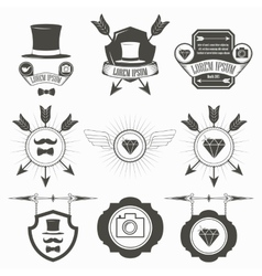 Vintage Design Elements Retro Hipster Style vector image vector image