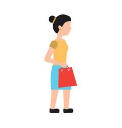 woman shopping icon image vector image