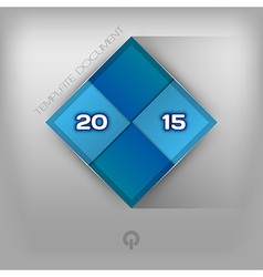 2015 squares blue vector image